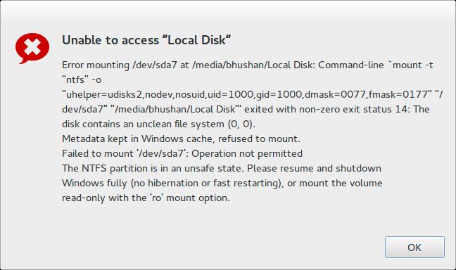 windows metadata error